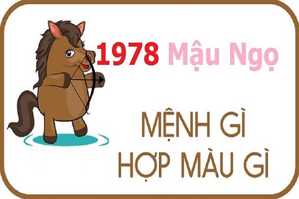 Sinh năm 1978 hợp màu gì? Tuổi Mậu Ngọ kỵ màu gì?