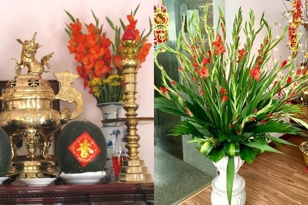 Cách cắm hoa bàn thờ cúng giỗ lễ Tết-2
